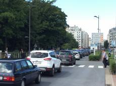 auto's schuiven en alle parkings zijn volzet